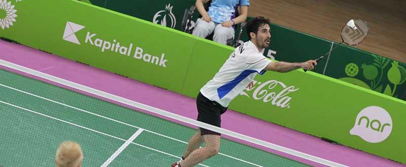 Pablo Abián. Fuente: MARK PHELAN/.badmintoneurope.com