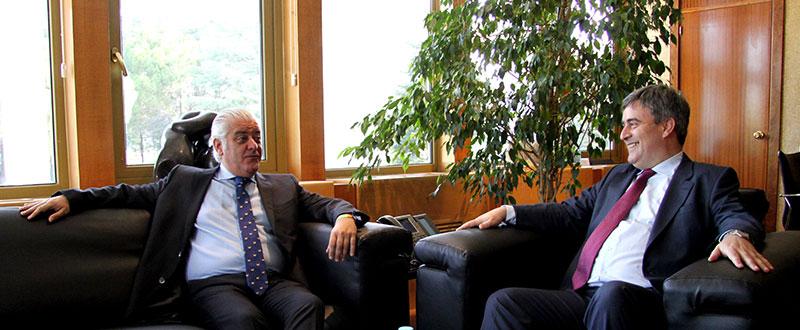 Fernández-Ladreda y Miguel Cardenal, durante la reunión. Fuente: CSD