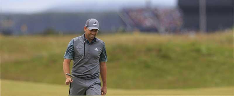 Sergio García durante su último recorrido en St. Andrews. Fuente: Golffile