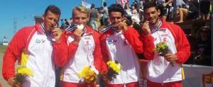 El K4 1.000 metros es el 2º oro para España. Fuente: Rfep.