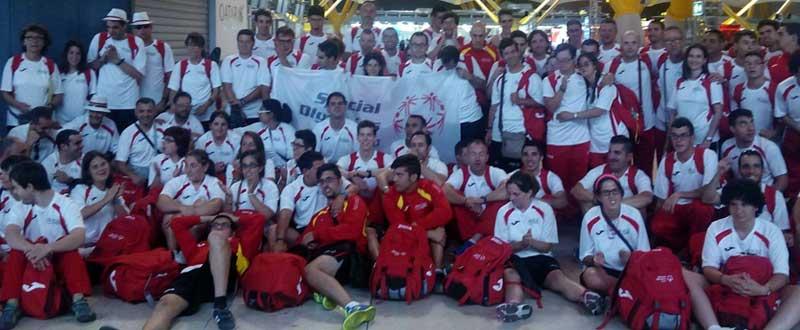 La delegación española en los Special Olympics. Fuente: dxtadaptado.com