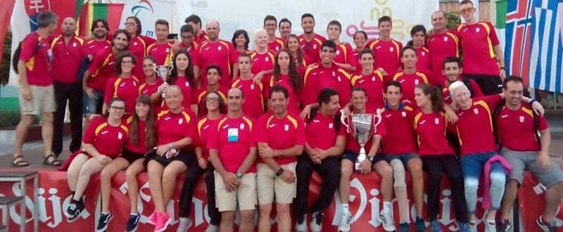 La delegación española presente en los Juegos Europeos de la Juventud. Fuente: dxtadaptado.com