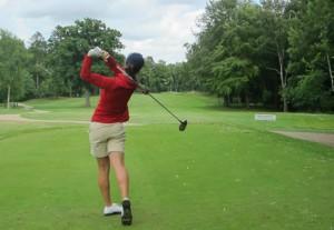 Una de las integrantes del equipo femenino de golf. Fuente: Rfegolf
