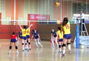 Las chicas de la selección española sub-18. Fuente: Rfevb