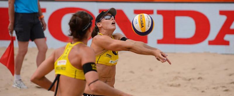 Elsa Baquerizo y Lili Fernández logran la plata en el Grand Slam de Long Island. Fuente: RFEVB