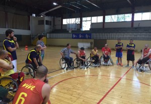 La selección española masculina de baloncesto en silla de ruedas. Fuente: Feddf