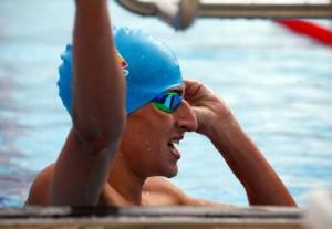 César Castro durante la competición en FOJE. Fuente: AD