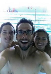Michelle Alonso con sus compañeros del Ademi Tenerife. Fuente: AD