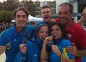 2 platas y 1 bronce en el Open de Salto de Italia