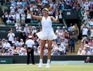 Garbiñe Muguruza, en la final de Wimbledon