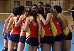 La selección española femenina sub-16. Fuente: Rfevb