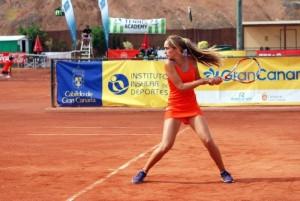 Carlota empezó con 7 años a jugar al tenis. Fuente: AD