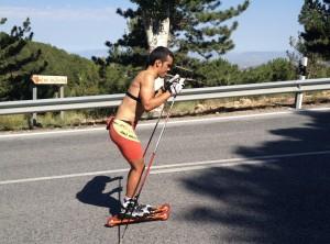 Imanol Rojo en un entrenamiento.