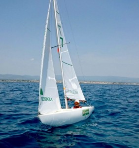 Antonio Maestre, el vencedor de la regata.