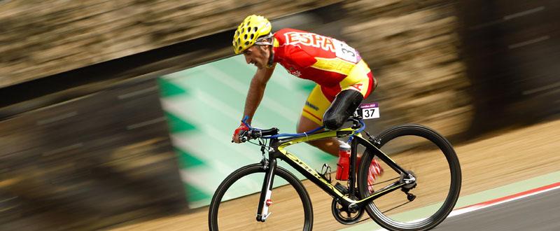 El ciclista español, Juanjo Méndez, en la prueba de carretera. Fuente: Paralímpicos