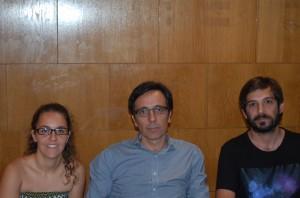Laura Pérez, José Luis Rojas y Pablo Cervantes. Fuente: DC/Avance Deportivo
