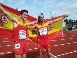 Los atletas Diego García y Pablo Oliva. Fuente: AD