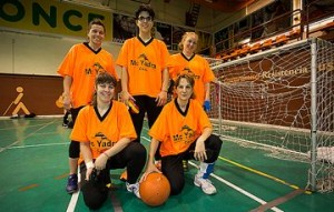 Selección femenina de goalball. Fuente: Dxtadaptado.com
