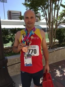 Daniel Vara, bronce en 200 metros. Fuente: Fecam.