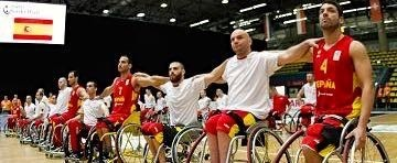 Selección española masculina de baloncesto en silla. Fuente: dxtadaptado.com