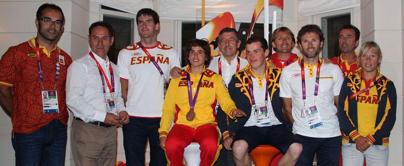 El equipo español de piragüismo. Fuente: RFEP