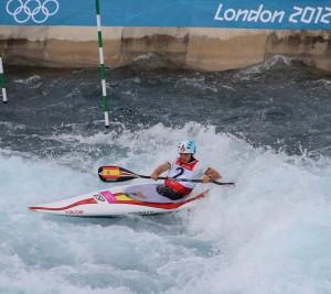 Maialen Chourraut durante los Juegos Olimpicos de Londres 2012. Fuente: RFEP