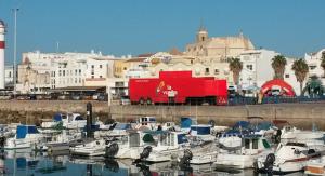 Salida de la 5ª etapa, esta mañana en Rota (Cádiz).