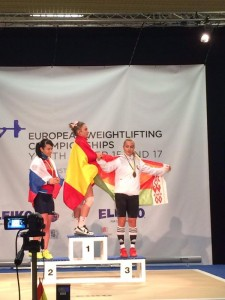 Alba Sánchez, en el primer escalón del podio. Fuente: Alba Sánchez.