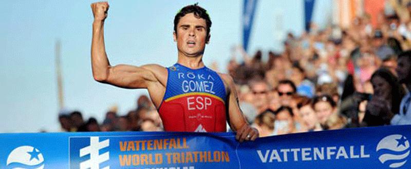 Javier Gómez Noya conquista su 4º título de campeón de Europa. Fuente: Fetri