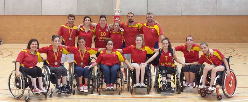 Selección española femenina de baloncesto en silla. Fuente: Feddf