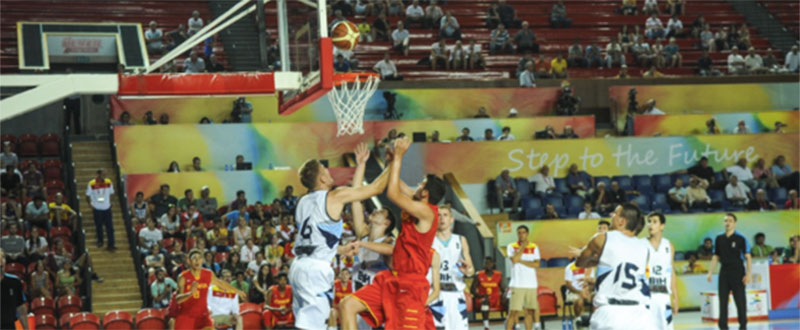 La selección española de baloncesto en FOJE. Fuente: Tbilisi2015.com