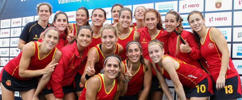 La selección española femenina de hockey hierba. Fuente: Rfeh