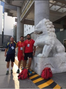 Borja Vivas ya está en Pekín. Fuente: @borjavivas.