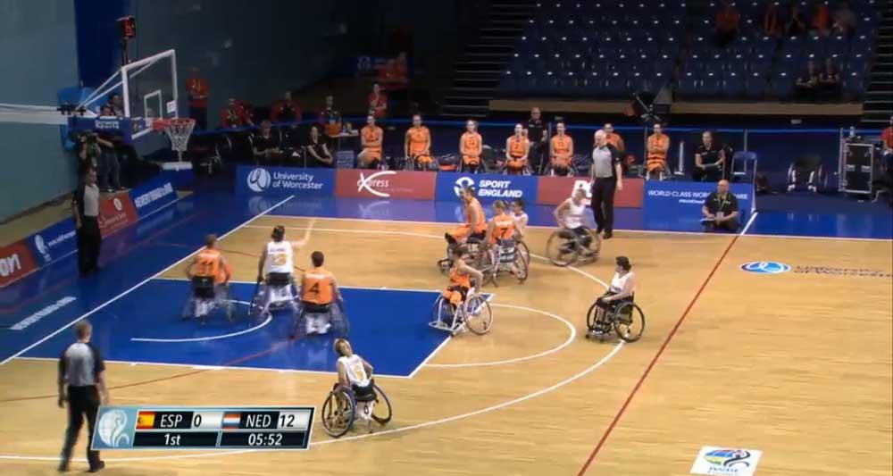 Selección femenina de baloncesto en silla. Fuente: AD