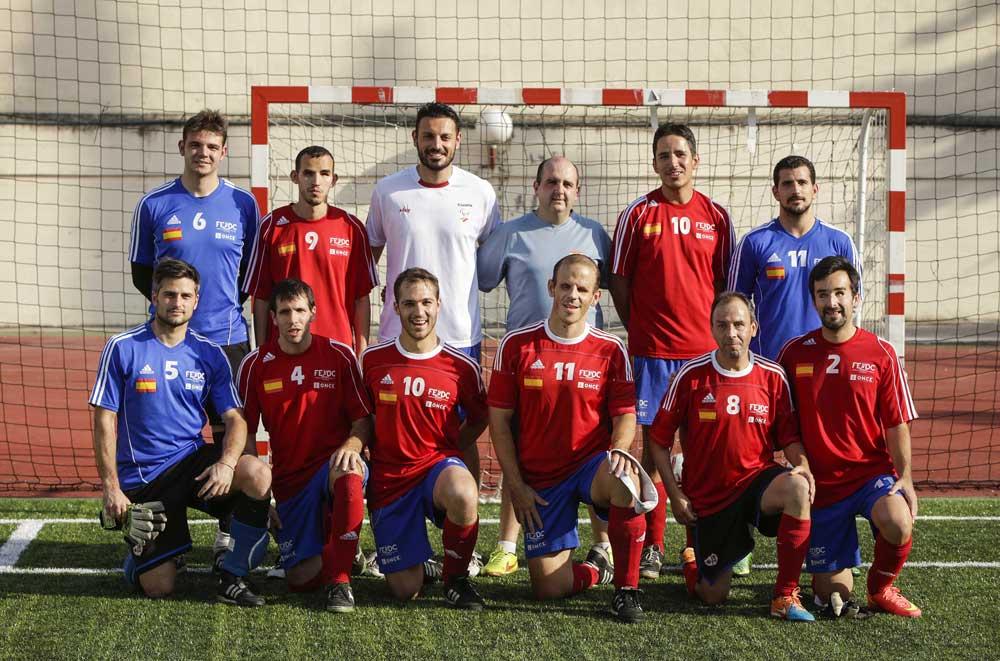 Selección Fútbol Sala Ciegos. Fuente: CPE