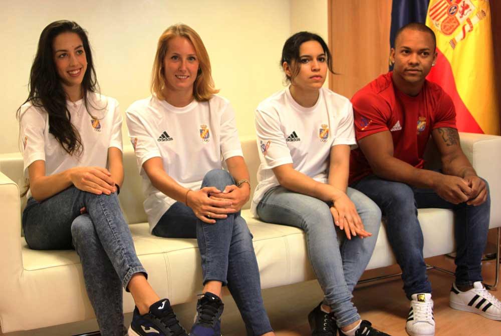 Alejandra Quereda, Claudia Prat, Ana y Rayderley Zapata. Fuente: Rfeg