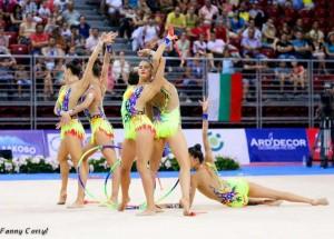 Selección española de gimnasia rítmica. Fuente: AD