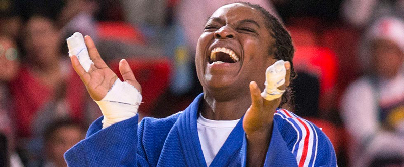 La judoca española María Bernabéu.