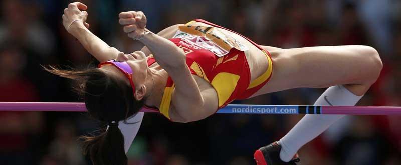 La cántabra Ruth Beitia es una de las principales opciones de medalla. Fuente: Phil Noble.