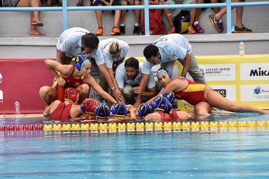 Selección española júnior femenina de waterpolo. Imágenes:AD