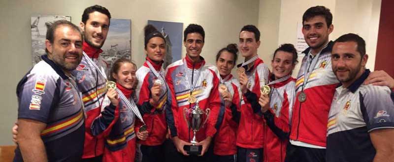 Delegación española de taekwondo en Israel. Fuente: Rfet
