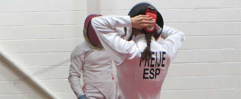 Aroa Freije ha tenido una mala esgrima en la final del Mundial Juvenil de Péntatlon Moderno. Fuente: AD.