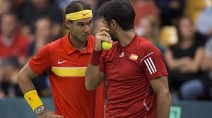 Rafa Nadal y Fernando Verdasco. Fuente: Rfet.