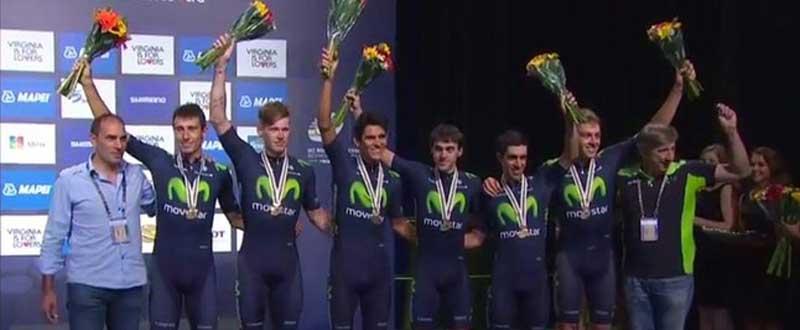 El Movistar ha logrado la medalla de bronce en el Mundial de Richmond. Fuente: