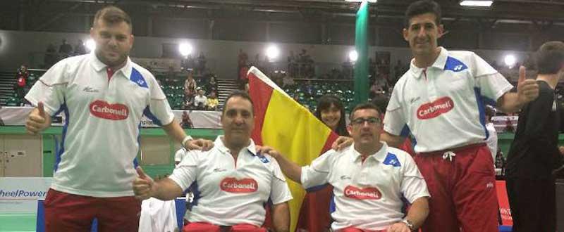 Los españoles han realizado un digno papel en el Mundial de Parabádminton. Fuente: Federación Española de Bádminton.