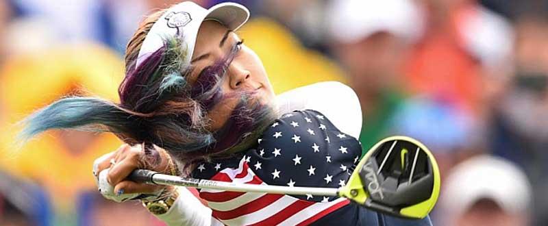 La golfista americana Michelle Wie durante la última jornada. Fuente: AFP.