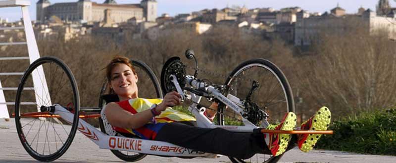 Eva Moral ha logrado por 2ª vez consecutiva el Campeonato de España de paratriatlón. Fuente: AD.