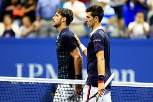 Feliciano le hizo sufrir pero no pudo con Djokovic. Imágenes: AD