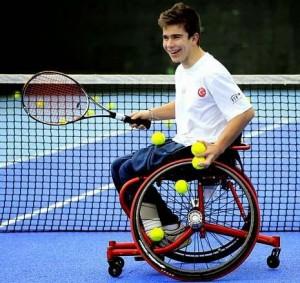 Martín sonríe durante un entrenamiento. Fuente: AD.