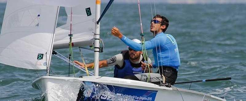 Los regatistas Onán Barreiros y Juan Curbelo han consiguido el bronce en el 470 masculino. Fuente: Rcngc.